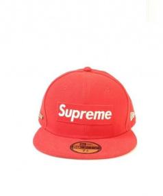 SUPREME×NEWERA(シュプリーム×ニューエラ)の古着「BOX LOGO CAP」|レッド