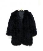 LE CIEL BLEU(ルシェルブルー)の古着「ターキーファーコート」|ブラック