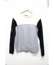 PHENOMENON(フェノメノン)の古着「配色切替スウェット」|グレー×ホワイト×ブラック