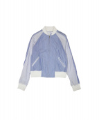 COMME des GARCONS SHIRT BOYS(コムデギャルソンシャツボーイズ)の古着「ピンストライプボンバージャケット」