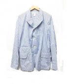 COMME des GARCONS SHIRT(コムデギャルソンシャツ)の古着「3Bストライプジャケット」|ブルー