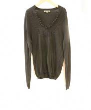 VERSACE(ヴェルサーチ)の古着「刺繍カンフーニット」|ブラック