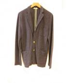 BARK(バーク)の古着「リネンニットジャケット」|ネイビー