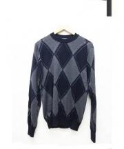 Dior Homme(ディオールオム)の古着「アーガイルニット」 ネイビー×グレー