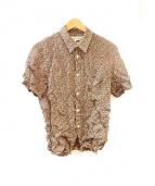 COMME des GARCONS SHIRT(コムデギャルソンシャツ)の古着「フラワープリント伸縮シャツ」|ブラック×レッド
