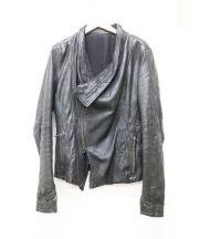 JULIUS(ユリウス)の古着「レザートレンチジャケット」 ブラック
