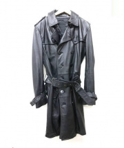 Roen(ロエン)の古着「ラムレザートレンチコート」 ブラック