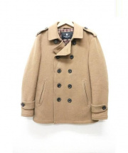 BLACK LABEL CRESTBRIDGE(ブラックレーベルクレストブリッジ)の古着「メルトンPコート」 キャメル