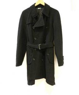 COMME des GARCONS Homme Plus(コムデギャルソンオムプリュス)の古着「ウールトレンチコート」 ブラック