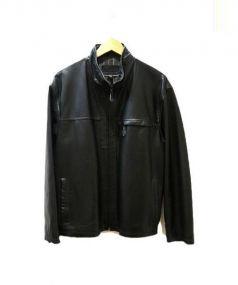 DAN VALENTINO(ダン ヴァレンティノ)の古着「レザージャケット」|ブラック
