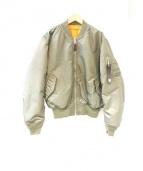 ALYX×ALPHA(アリクス×アルファ)の古着「MA-1ジャケット」|カーキ