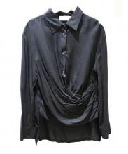 AP STUDIO(エーピーステゥディオ)の古着「抜き襟ブラウス」 ブラック