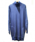 DIESEL(ディーゼル)の古着「ボトルネックスウェットワンピース」 ブルー