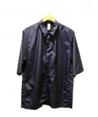 Edwina Horl(エドウィナホール)の古着「ナイロンサイドボタンシャツ」|ネイビー