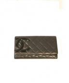 CHANEL(シャネル)の古着「長財布」 ブラック×ピンク