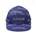 SUPREME(シュプリーム)の古着「6パネルキャップ」 ブルー×シルバー