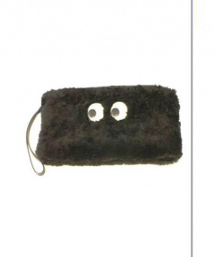 ANYA HINDMARCH(アニヤハインドマーチ)の古着「パックマンゴーストクラッチバッグ」 ブラック