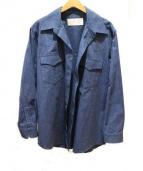 JULIEN DAVID(ジュリアンデイヴィッド)の古着「ワイドシルエットシャツ」|ブルー
