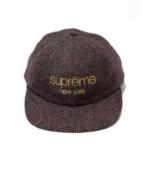 SUPREME(シュプリーム)の古着「Wool Herringbone Classic Logo 」 パープル