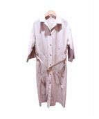 plage(プラージュ)の古着「ベルト付きシャツドレス」|ベージュ