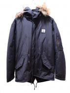 FRANKLIN&MARSHALL(フランクリンアンドマーシャル)の古着「N-3Bタイプコート」|ブラック