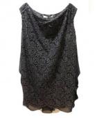 THE DRESS BY FLICKA(ザドレスバイフリッカ)の古着「レースワンピース」 ネイビー