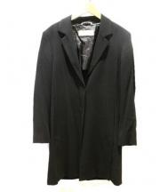 MaxMara(マックスマーラー)の古着「比翼コート」|ブラック