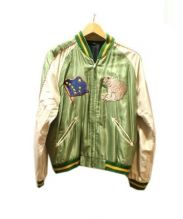 BEAMS(ビームス)の古着「アセテート スカジャン ALASKA」|グリーン