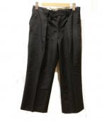 ms braque(エムズ ブラック)の古着「コットンナイロンワイドパンツ」 ブラック