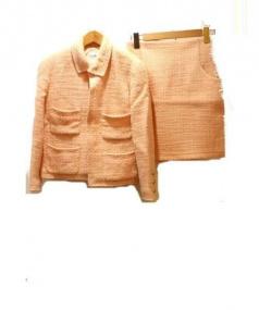 CHANEL(シャネル)の古着「ツィードスーツ」 ピンク