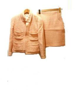 CHANEL(シャネル)の古着「ツィードスーツ」|ピンク