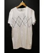 Dior Homme(ディオールオム)の古着「刺繍Tシャツ」|ホワイト