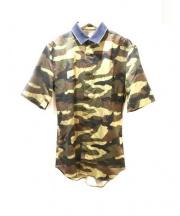 DIOR HOMME(ディオールオム)の古着「カモフラ比翼シャツ」|カーキ