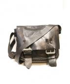 MONI(モニ)の古着「オイルレザーショルダーバッグ」|ブラック