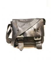 MONI(モニ)の古着「オイルレザーショルダーバッグ」 ブラック