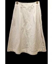 MARGARET HOWELL(マーガレットハウエル)の古着「コットンリネンスカート」|グレー