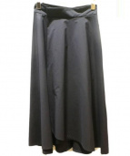 M-premier(エムプルエミ)の古着「サイドロングラップスカート」|ネイビー