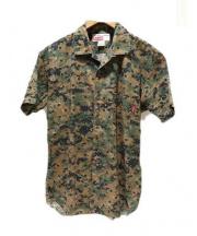 Supreme×CDG(シュプリーム×コムデギャルソン)の古着「ドットデジタルカモ半袖シャツ」 グリーン