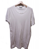 BALMAIN(バルマン)の古着「ダメージ加工カットソー」|ホワイト
