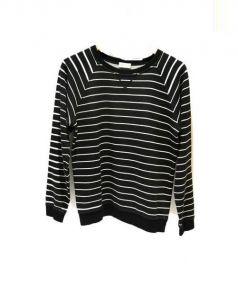 SAINT LAURENT PARIS(サンローラン パリ)の古着「ボーダースウェットシャツ」 ブラック