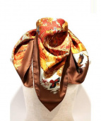 HERMES(エルメス)の古着「シルクスカーフ」|オレンジ