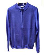 Calvin Klein(カルバンクライン)の古着「ジップアップニット」|ブルー