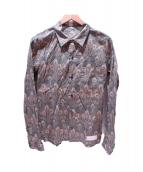 ISAMU KATAYAMA BACKLASH(イサムカタヤマ・バックラッシュ)の古着「孔雀総柄シャツ」|グリーン