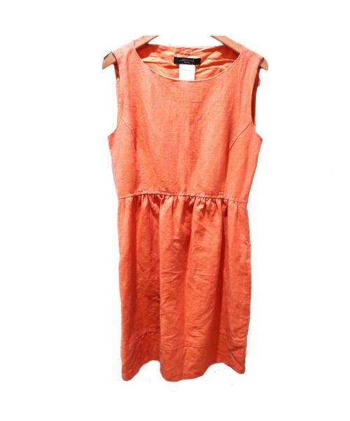MAXMARA WEEKEND LINE(マックスマーラ ウィークエンドライン)MAXMARA WEEKEND LINE (マックスマーラウィークエンドライン) ノースリーブワンピース オレンジ サイズ:36 最新ライセンスの古着・服飾アイテム