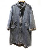 Vaporize(ヴェイパライズ)の古着「オーバーサイズデニムモッズコート」 インディゴ