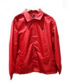 VAN JAC(ヴァンジャケット)の古着「ロゴコーチジャケット」|レッド