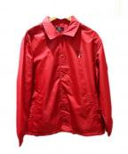 VAN JAC(ヴァンジャック)の古着「ロゴコーチジャケット」|レッド