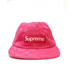 SUPREME(シュプリーム)の古着「Checker Weave Camp Cap」|ピンク