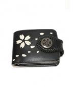 ALZUNI(アルズニ)の古着「レザーコンチョ財布 」 ブラック