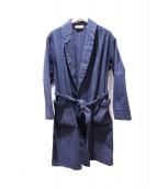 The Stylist Japan(ザスタイリストジャパン)の古着「KAIHARA HERRINGBONE DENIM GOWN」|インディゴ